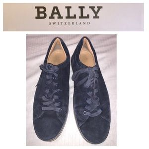 Bally Navy Suede Sneakers. Size 10.5D